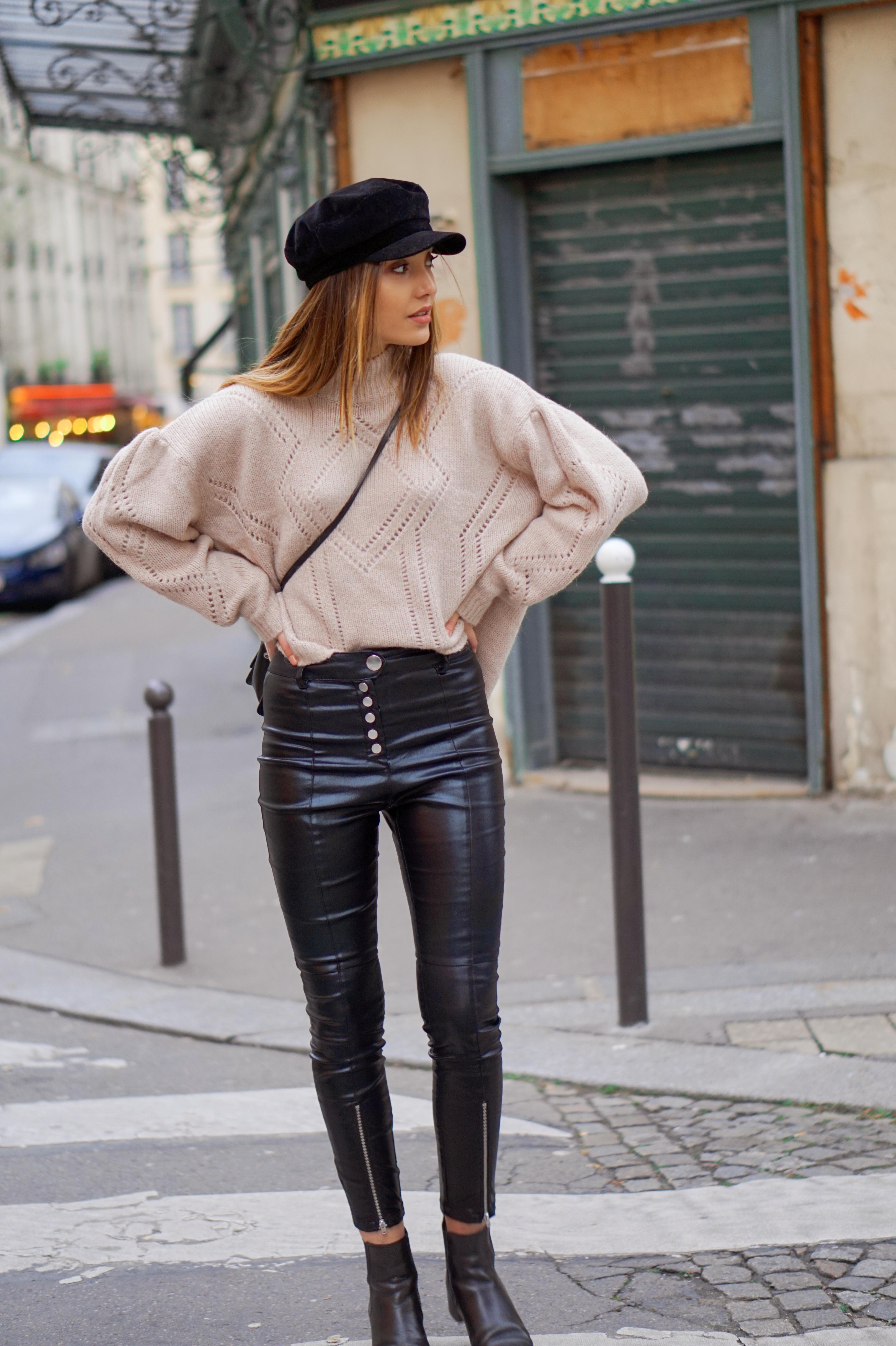 Le pantalon en simili cuir – WENDYSWAN 539377be565